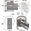 Банная печь везувий скиф стандарт 28 (дт-4)