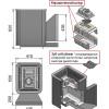 Банная печь везувий сенсация 16 антрацит (205)