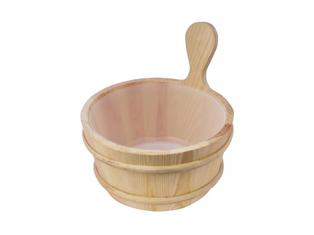 Sawo кадушка деревянная 4л, с пластиковой вставкой, 335-ep