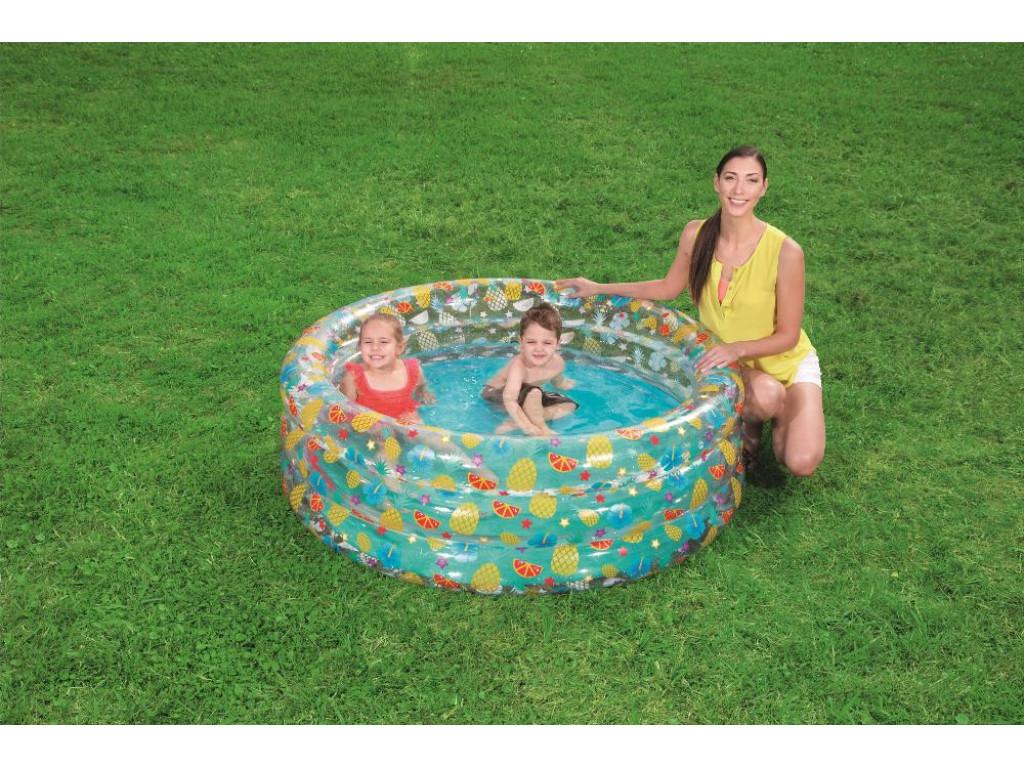 Бассейн надувной  Bestway Тропические фрукты 150x53см, 445л.  51045