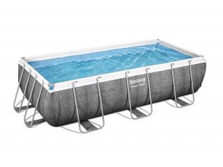 Бассейн каркасный прямоугольный BESTWAY  404*201*100 см, 6478л, фильтр-насос 2006л/ч, лестница 56721