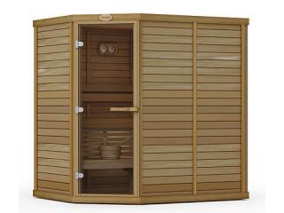 Сауна в сборе SAWO 1420LS-PD (1,4м х 2,0м, ель, без оборудования и аксессуаров, дизайн Piano, левая)