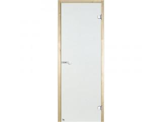 Дверь стеклянная Harvia 7х19 (коробка осина, стекло прозрачное, артикул D71904H)