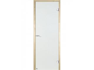 Дверь стеклянная Harvia 7х19 (коробка сосна, стекло прозрачное, артикул D71904M)