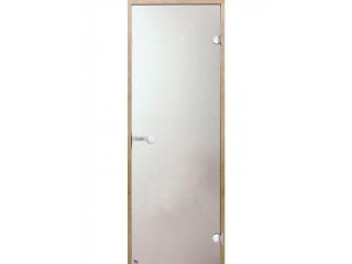 Дверь стеклянная Harvia 7х19 (коробка осина, стекло сатин, артикул D71905H)