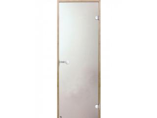 Дверь стеклянная Harvia 8х19 (коробка сосна, стекло сатин, артикул D81905M)