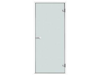 Дверь Harvia с белой алюминиевой коробкой 8х19 (стекло прозрачное, артикул DA81904V)