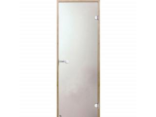 Дверь стеклянная Harvia 8х21 (коробка ольха, стекло сатин, артикул D82105L)