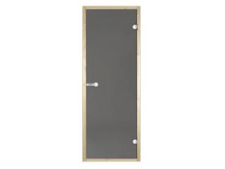 Дверь стеклянная Harvia 8х21 (коробка ольха, стекло серое, артикул D82102L)