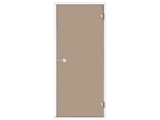 Дверь Harvia с белой алюминиевой коробкой 8х19 (стекло бронза, артикул DA81901V)