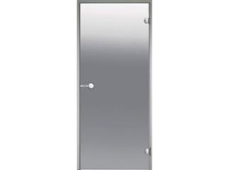 Дверь Harvia с алюминиевой коробкой 8х19 (стекло сатин, артикул DA81905)