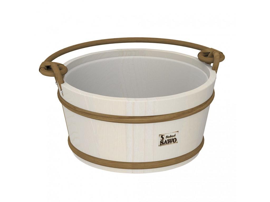 Ведро деревянное sawo 300-ha (9 литров, с пластиковой вставкой) для бани и сауны