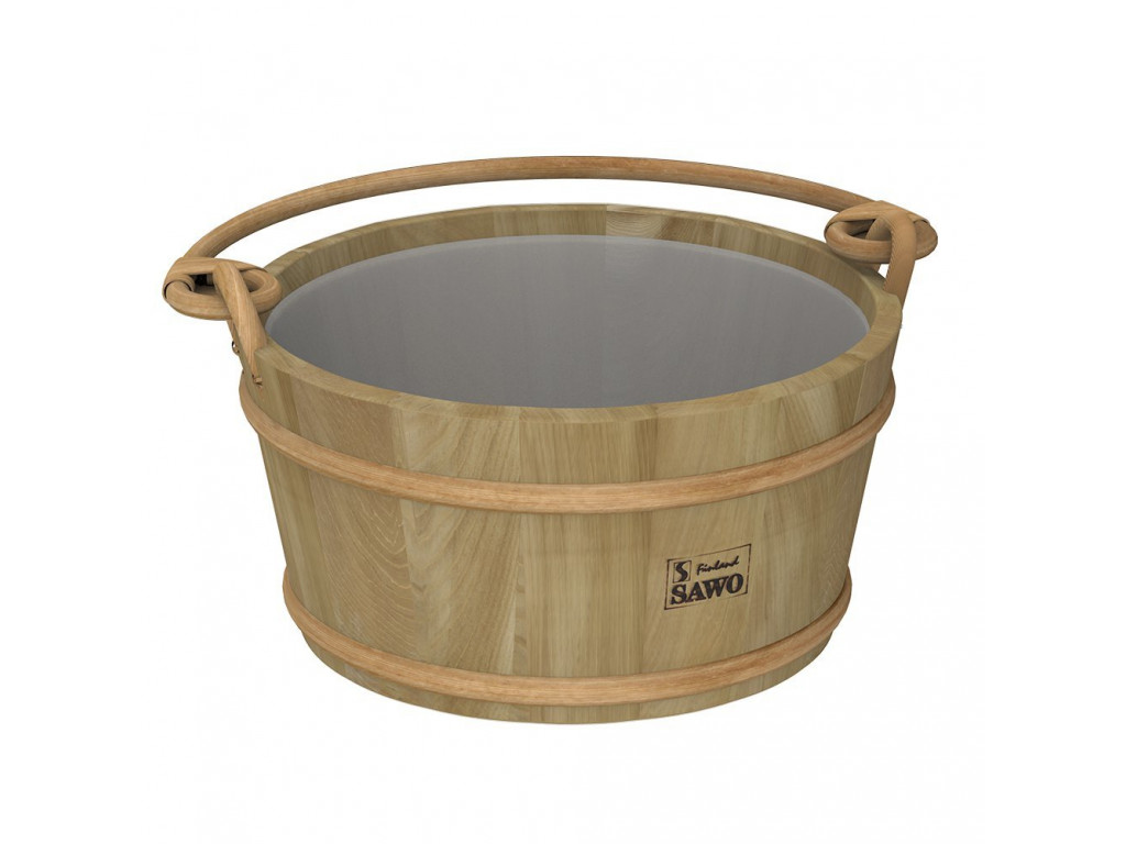 Ведро деревянное sawo 300-hd (9 литров, с пластиковой вставкой) для бани и сауны