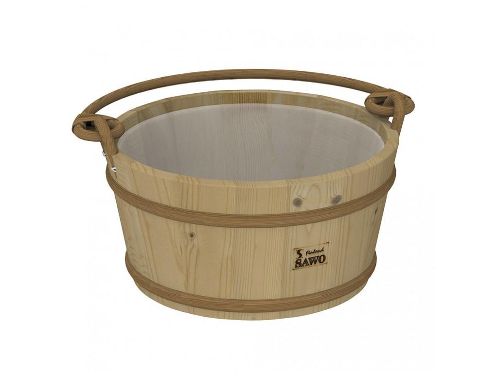Ведро деревянное sawo 300-hp (9 литров, с пластиковой вставкой) для бани и сауны