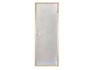Дверь стеклянная Harvia 8х19 (коробка осина, стекло сатин, артикул D81905H)