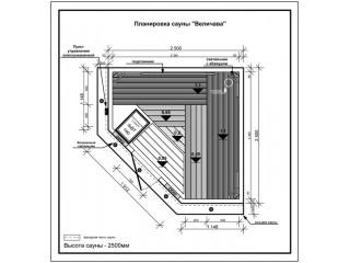 Сборная сауна ВЕЛИЧАВА
