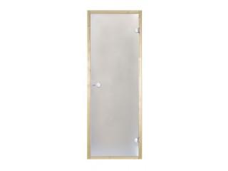 Дверь стеклянная Harvia 7х19 (коробка ольха, стекло сатин, артикул D71905L)