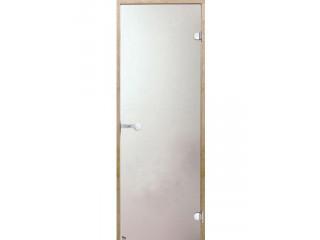 Дверь стеклянная Harvia 8х21 (коробка сосна, стекло сатин, артикул D82105M)