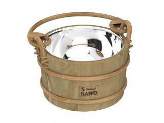 Ведро деревянное SAWO 341-MD (3 литра, со вставкой из нержавейки)