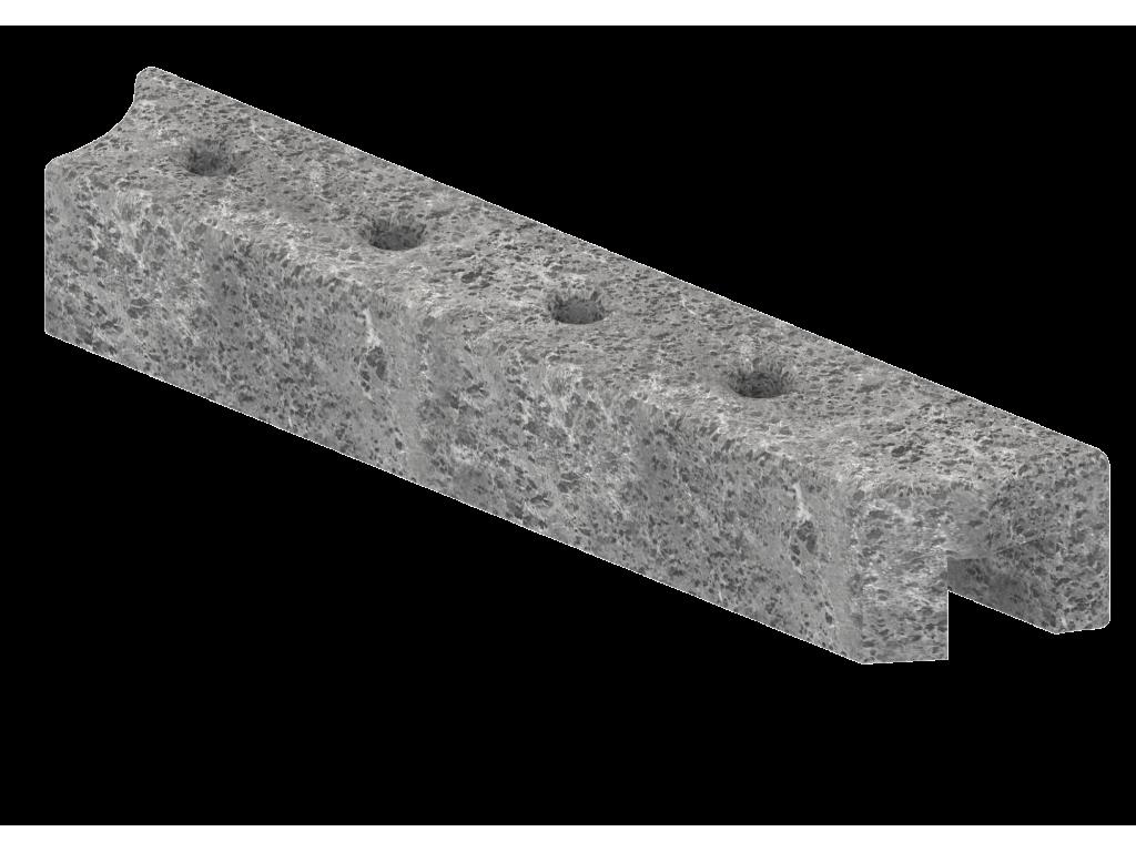 Верхний правый талькохлоритный элемент sawo hp34-006 для печи nimbus combi (400х70х60)