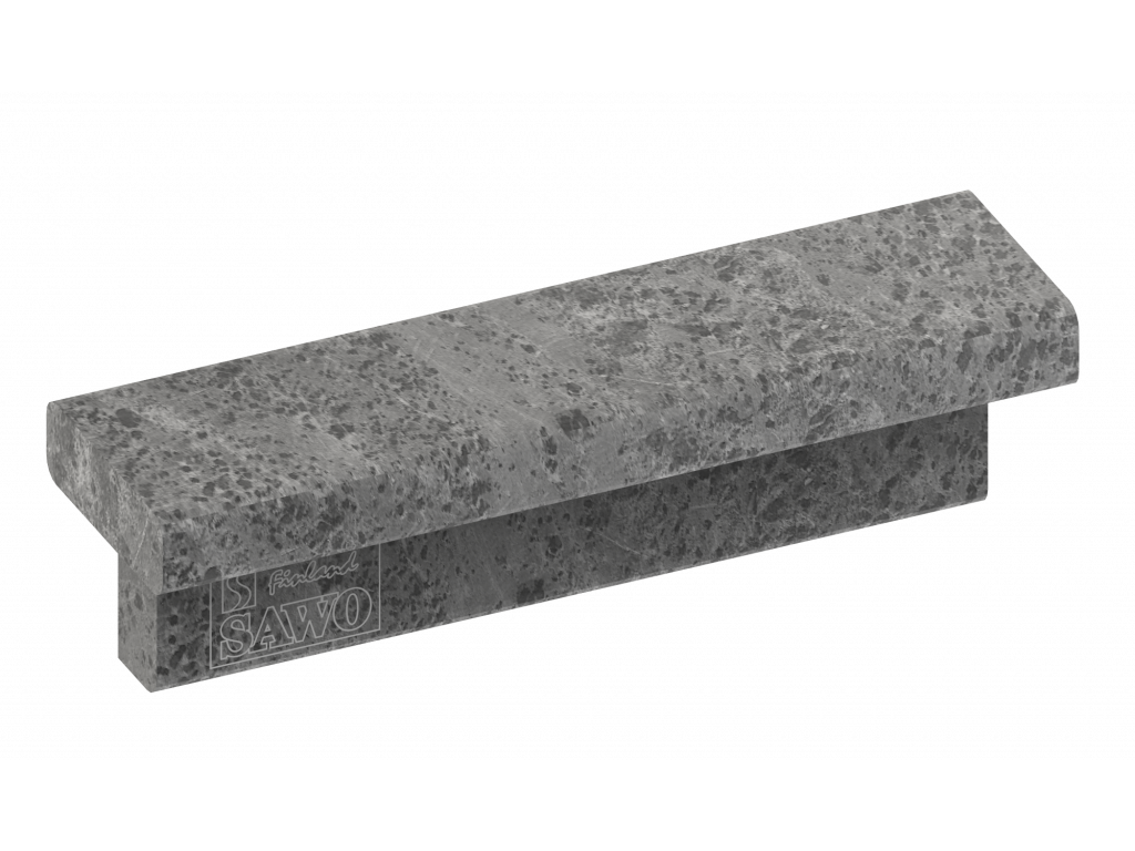 Верхний фронтальный талькохлоритный элемент sawo hp29-003 для печи cumulus (короткий, 215х60х60мм)