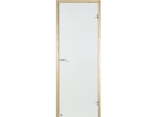 Дверь стеклянная Harvia 8х21 (коробка ольха, стекло прозрачное, артикул D82104L)