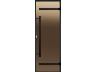 Дверь Harvia с алюминиевой коробкой Legend 9х19 (стекло бронза, артикул DA91901L)
