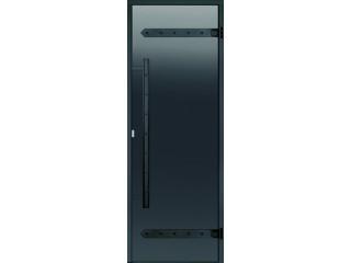 Дверь Harvia с алюминиевой коробкой Legend 9х19 (стекло серое, артикул DA91902L)