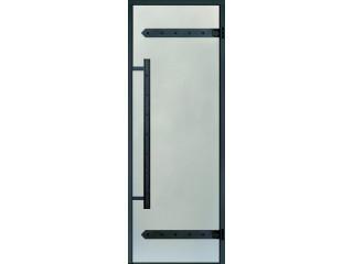 Дверь Harvia с алюминиевой коробкой Legend 8х19 (стекло сатин, артикул DA81905L)