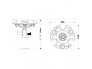 Плавающий фонтан для пруда Powerflow 45/1 F. 2.20KW/380V