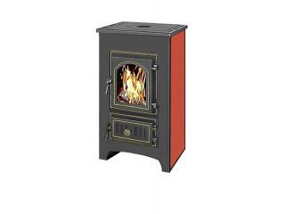Печь-Камин ВЕЗУВИЙ ПК-01 (270) с плитой, красный