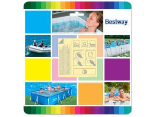 Рем.комплект Bestway  62091 (самоклеющиеся заплатки 10 шт)