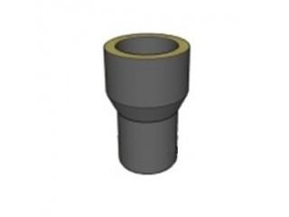 Старт-переход (AISI304 0.8 мм) с шибером D150