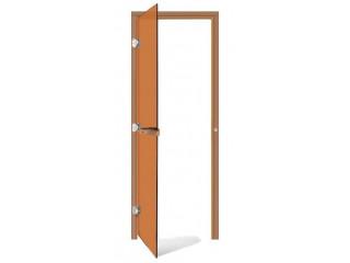 Дверь SAWO 730-3SGD-L 7/19 (бронза, левая, без порога)