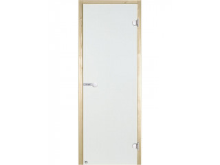 Дверь стеклянная Harvia 8х21 (коробка сосна, стекло прозрачное, артикул D82104M)