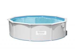 Бассейн сборный круглый 460х120 см.,BESTWAY Hydrium Poseidon Pool, метал.каркас, 56384