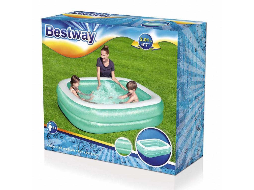 Бассейн надувной семейный Bestway 201*150*51см  450л, 54005