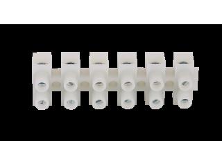 Клеммная колодка SAWO STP-TB6 (6-полюсная белого цвета для печи и парогенератора)