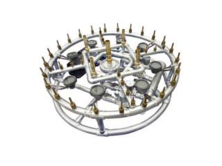 Фонтан светомузыкальный, нержавеющая сталь, круглый 120 см, 15000 л/ч