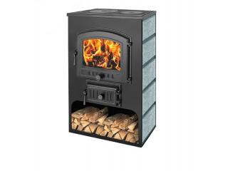 Печь-Камин ВЕЗУВИЙ ПК-03 (224) с плитой талькохлорит 12 кВт