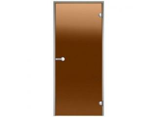 Дверь Harvia с алюминиевой коробкой 7х19 (стекло бронза, артикул DA71901)