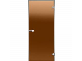 Дверь Harvia с алюминиевой коробкой 8х19 (стекло бронза, артикул DA81901)