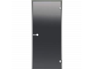Дверь Harvia с алюминиевой коробкой 8х19 (стекло серое, артикул DA81902)