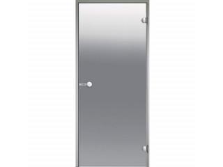 Дверь Harvia с алюминиевой коробкой 7х19 (стекло сатин, артикул DA71905)