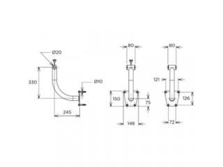 Опоры для наматывающего устройства Flexinox 87197061 (крепление на стену), с фланцами