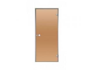 Дверь Harvia с алюминиевой коробкой 8х21 (стекло бронза, артикул DA82101)