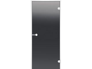 Дверь Harvia с белой алюминиевой коробкой 7х19 (стекло серое, артикул DA71902V)