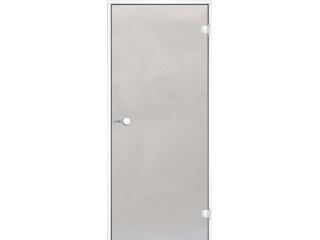Дверь Harvia с белой алюминиевой коробкой 7х19 (стекло сатин, артикул DA71905V)