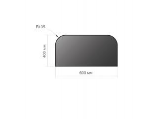 Лист предтопочный сталь 400*600*2 R135