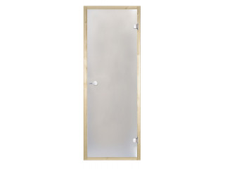 Дверь стеклянная Harvia 8х21 (коробка осина, стекло сатин, артикул D82105H)